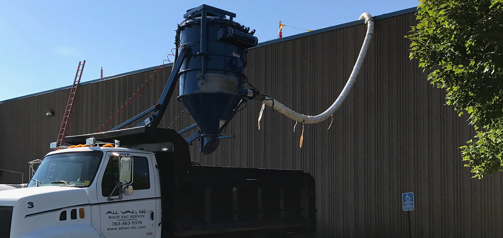 All Vac Inc Commercial Roof Rock Vacuuming